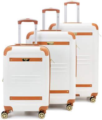 V19.69 Italia Retro 3 Piece Expandable Hard Spinner Luggage Set