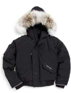 Canada Goose Kid's Fur-Trimmed Down Bomber Jacket