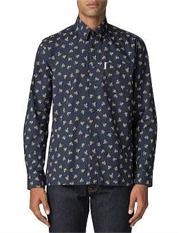 Ben Sherman Ls Archive Casino Shirt Dark Navy