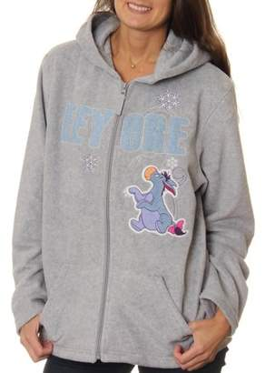 Disney Women's Eeyore Plush Fleece Full Zip Hoodie