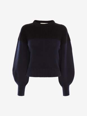 Alexander McQueen Colour Block Cashmere Knitted Jumper