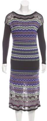 Missoni M.Missoni Long Sleeve Knit Dress