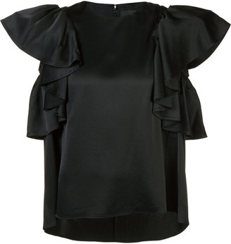 Co ruffle sleeve blouse $595 thestylecure.com