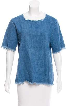 Our Legacy Chambray Short Sleeve Top