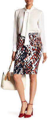 BOSS HUGO BOSS Vilea Printed Skirt $375 thestylecure.com