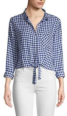 Rails Women's Val Gingham Tie Front Shirt