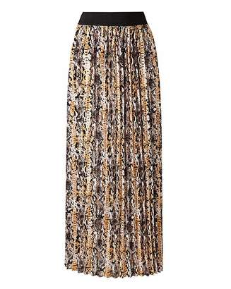 ab050e9a237 Black   Decker Snake Print Pleat Maxi Skirt