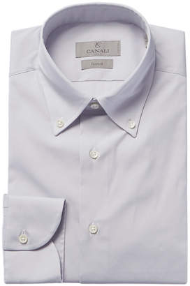 Canali Slim Fit Woven Stretch Dress Shirt