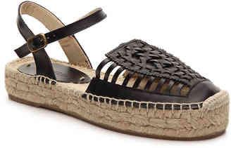 Women's Soludos Leather Flatform Sandal -Black $159 thestylecure.com