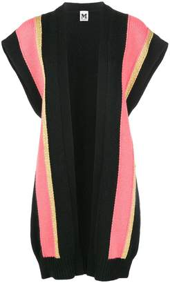 M Missoni stripe panel sleeveless cardigan