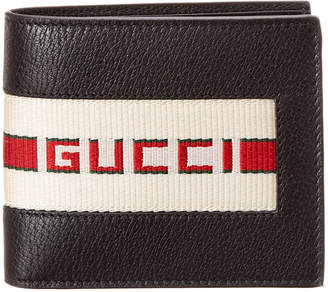 Gucci Stripe Leather Coin Wallet