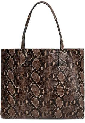 Marc Jacobs Snake-Effect Leather Tote
