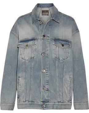 Roberto Cavalli Oversized Paneled Stretch-Denim Jacket