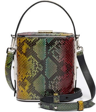 Hayward Field Python Top Handle Bag