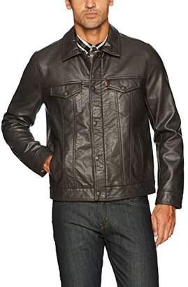 Levi's Men's Vintage Pebbled Cow Faux Leather Classic Trucker Jacket