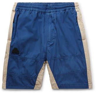 Cav Empt Two-Tone Cotton-Twill Drawstring Shorts