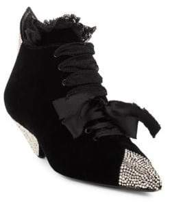 Saint Laurent Blaze Lace Embellished Booties