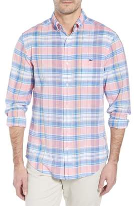 Vineyard Vines Smith Point Tucker Classic Fit Plaid Sport Shirt