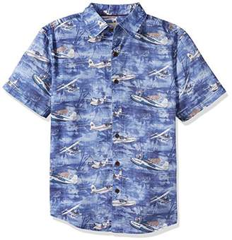 Margaritaville Men's Relaxed Fit Short Sleeve 100% Cotton BBQ Shirt