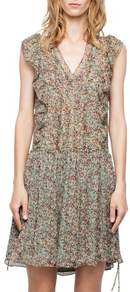 Zadig & Voltaire Deluxe Rimana Printed Silk Dress $398 thestylecure.com