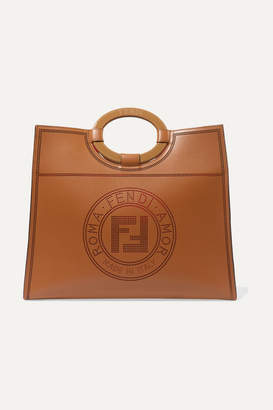 Fendi Runaway Medium Perforated Leather Tote - Brown