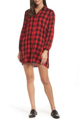 BB Dakota Buffalo Plaid Shirt Dress