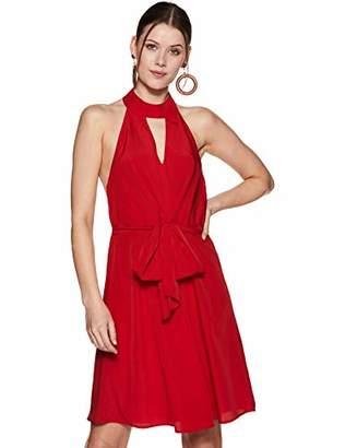 Oasis Wild Women's High Neck Backless Dress with Waist Ties (