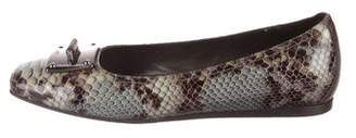 Donald J Pliner Patent Leather Embellished Flats