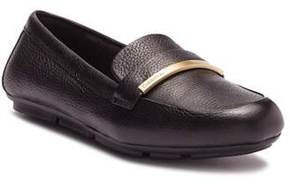 Calvin Klein Lilliana Pebble Leather Loafer