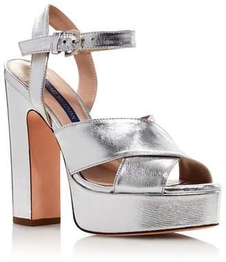 Stuart Weitzman Women's Joni Metallic Platform Sandals