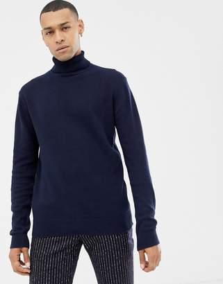 Brave Soul roll neck sweater in 100% cotton