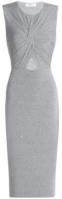 Bailey 44 Anti Doping Twist-Front Cutout Stretch-Jersey Dress