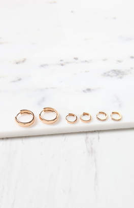 Frasier Sterling Rose Huggie Earring 3-Pack