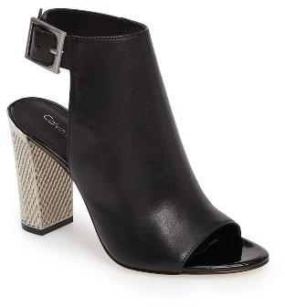 Women's Calvin Klein Norah Metallic Heel Sandal $148.95 thestylecure.com