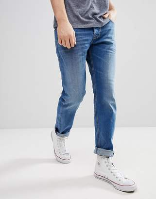 Diesel Larkee Jeans in Mid Wash Blue