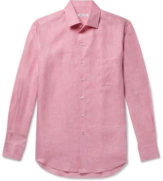Loro Piana Slub Linen Shirt - Pink
