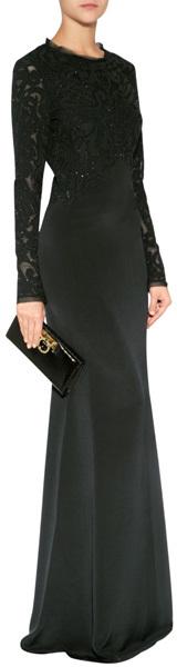 Emilio Pucci Silk Gown in Black
