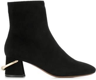 L'Autre Chose metallic ring ankle boots