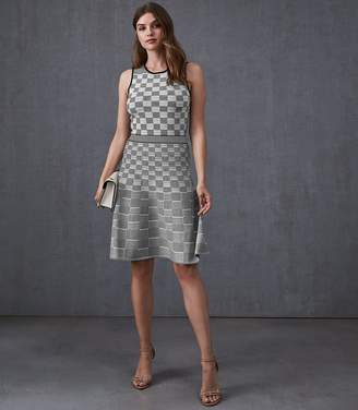 Reiss Cassie Jacquard Day Dress