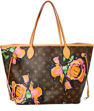 Louis Vuitton Limited Edition Stephen Sprouse Roses Monogram Canvas Neverfull Mm