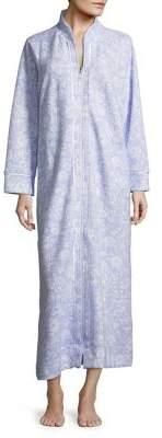 Carole Hochman Textured Floral Robe