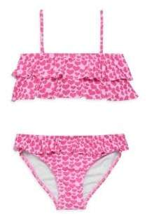 Melissa Odabash Little Girl's& Girl's Two-Piece Noemie Ruffle Bikini Top& Bottom Set