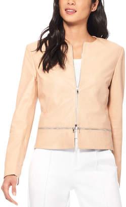 Ecru Leather Jacket