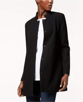 Eileen Fisher Tencel® Blend Textured Stand-Collar Jacket