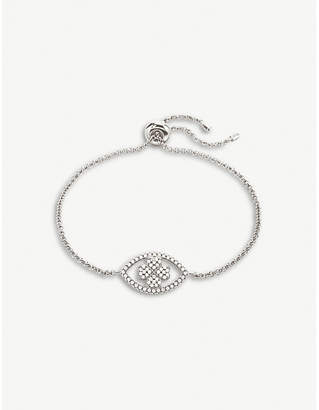 Folli Follie Heart4Heart Mati silver and cubic zirconia bracelet