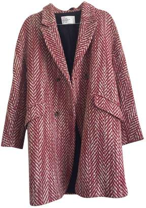 Leon & Harper Red Wool Coat for Women