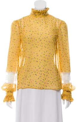 Philosophy di Lorenzo Serafini Lace-Accented Floral Top w/ Tags