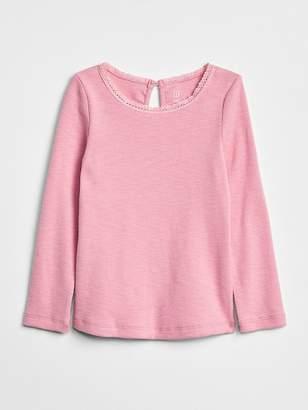 Gap Lace Trim Long Sleeve T-Shirt