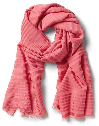 Banana Republic Sateen Stripe Rectangular Scarf