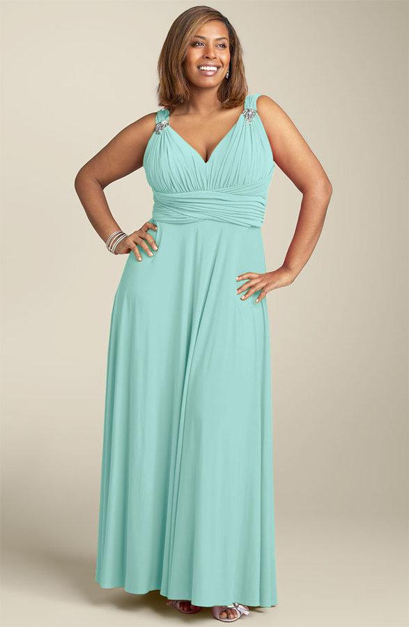 JS Boutique Ruched Empire Waist Dress (Plus)